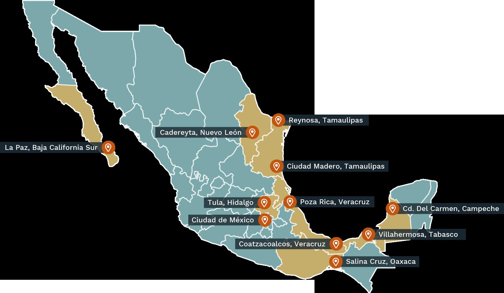 Pemex DII Presencia nivel nacional